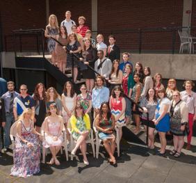 honors program graduates group photo