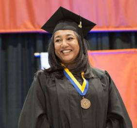 SUNY Chancellor's Award for Student Excellence recipient at commencement